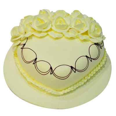 Divine Heart Shape Butterscotch Cake