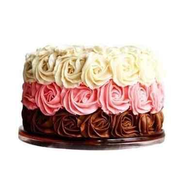Savory Rose Design Cake