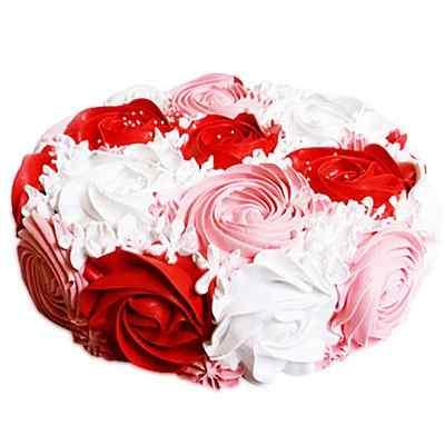 Colourful Rose Cake