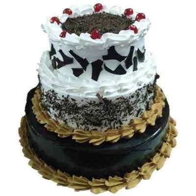 Vanilla Chocolate Triple Layer Cake