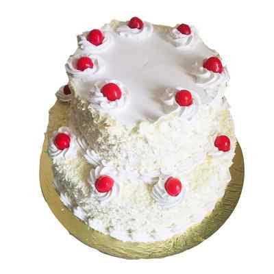 Vanilla Flavored Two Tier Cake