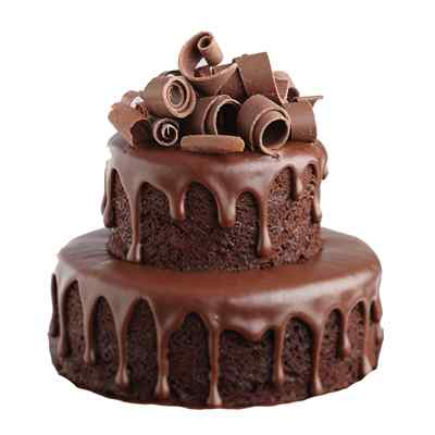 Chocolate Flavoured Two Tier Cake