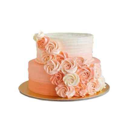 2 Tier Rose Corner Cake