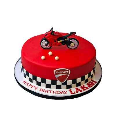 Sports Bike Theme Cake