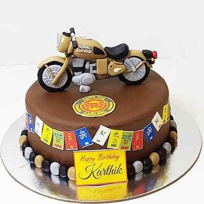 Royal Enfield Bike Cake