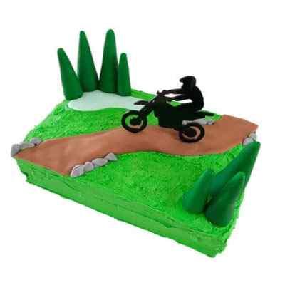 Vanilla Dirt Bike Track Cake