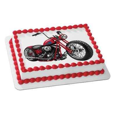 Motorcycle Photo Cake