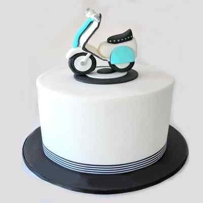 Vanilla Scooter Cake