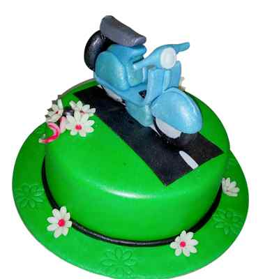 Delectable Scooter Cake