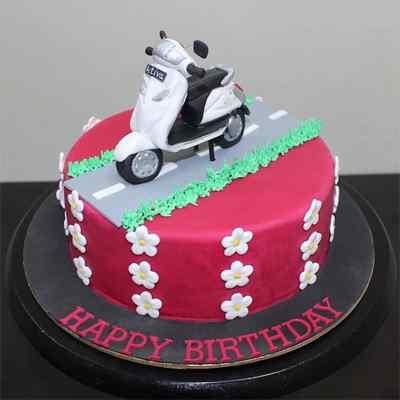 Happy Birthday Scooter Cake