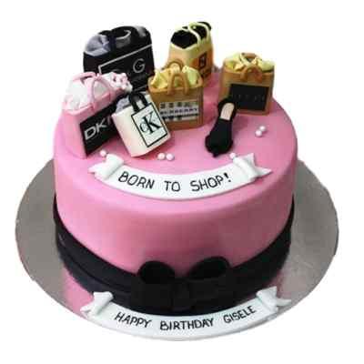 Happy Birthday Shopping Cake
