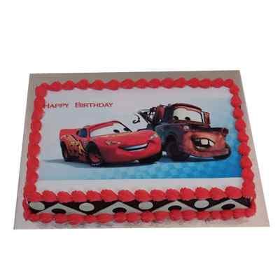 Happy Birthday Car Photo Cake
