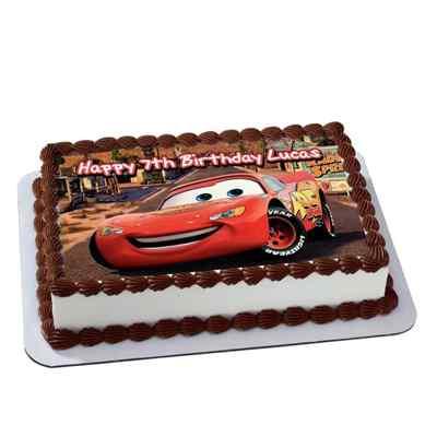 Photo Birthday Chocoalate Car Cake