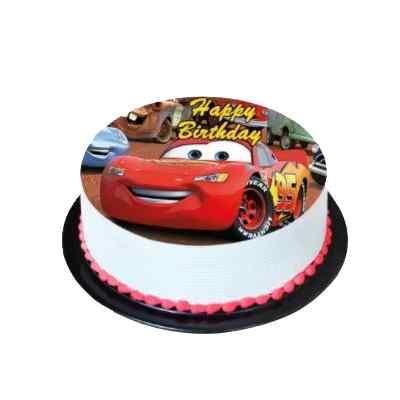 Round Shape Car Photo Cake
