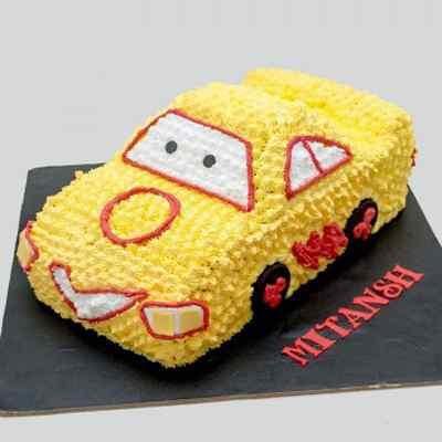 Yellow Car Cake