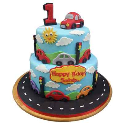Car Kids Party Cake
